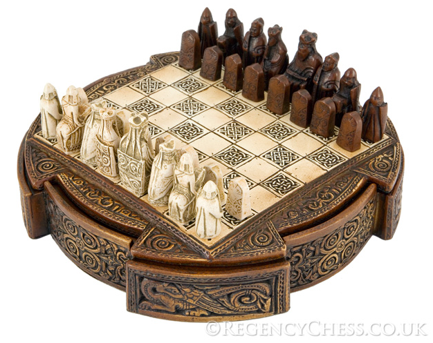 The regency chess company blog isle of lewis compact decorative chess set the regency chess - Ornate chess sets ...