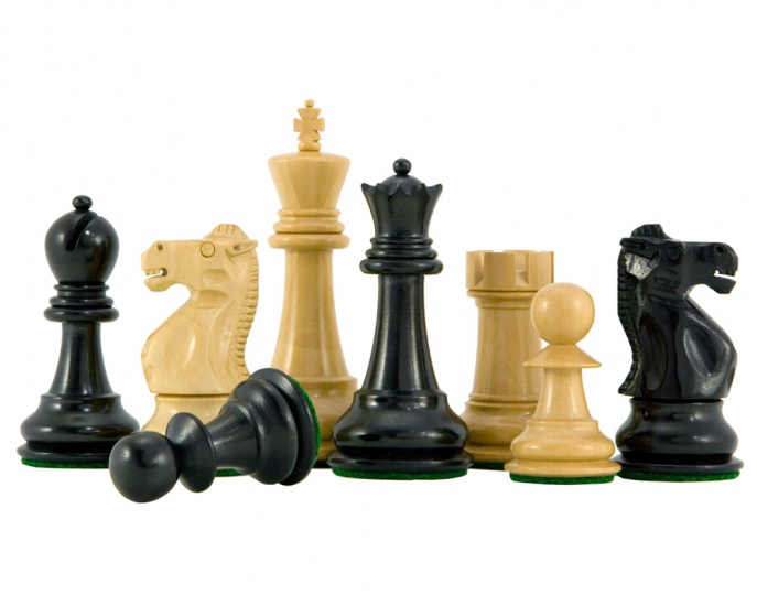 Fischer-Spassky Chess Pieces Ebonized Boxwood 3 75 King
