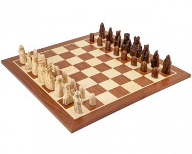 The Isle Of Lewis Large Mahogany Chess Set