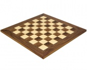 17.7 Inch Deluxe Walnut and Maple Chess Board