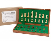 14 Inch Hardwood Magnetic Folding Chess Set