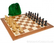 Conquest Series Black and Mahogany Chess Set