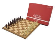 The Official Lewis Walnut Mid Sized Chess Set