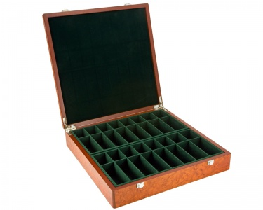 Root Wood Burl Compartment Chess Case