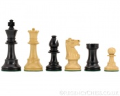 Conquest Series Ebonized Chess Pieces 3.75 Inches