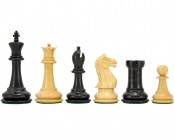 "Oxford Ebonized Chess Pieces 3.75"" King"