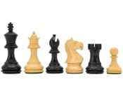 Fierce Knight Ebonized Staunton Chessmen 3 Inches Including Case