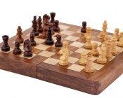 7 Inch Magnetic Folding Chess Set in Sheesham