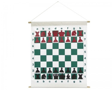 Demonstration Chess Board with Chess Pieces