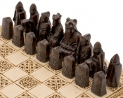 Isle Of Lewis Compact Celtic Chess Set 9 Inches in Ivory Colour