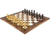 Old English Elite Ebony and Briar Luxury Chess Set