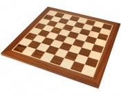 19 Inch Mahogany and Maple Chess Board