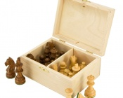 Number 4 Birch Wood Chess Case