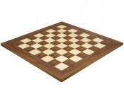 21.65 Inch Deluxe Walnut and Maple Chess Board