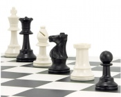 "Plastic Chess Pieces 3.75"" King"