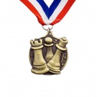 Gold Coloured Chess Medal with Strap