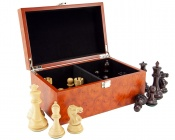 Root Wood Burl Chess Case
