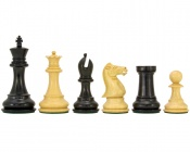 Sandringham Series Ebony Chess Pieces 4 Inches