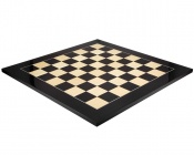 23.6 Inch Gloss Black Anegre and Maple Chess Board