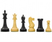 "Victoria Ebonized Chess Pieces 3.5"" King"