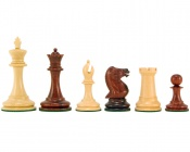 "Old English Elite Red Sandalwood Staunton Chess Pieces 3.5"" King"