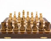 12 Inch Hardwood Magnetic Folding Chess Set