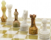The Alghero Onyx and Marble Chess Set