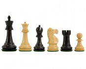 "Fischer-Spassky Chess Pieces Ebonized Boxwood 3.75"" King"