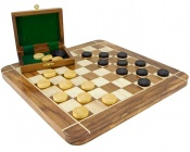 Sheesham and Boxwood Draughts Box