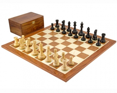 Broadbase Ebony Competition Large Chess Set