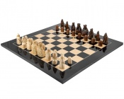 The Isle Of Lewis Black Large Gloss Chess Set