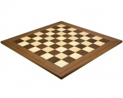 23.6 Inch Deluxe Walnut and Maple Chess Board