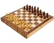 10 Inch Bookend Inlaid Golden Rosewood Chess Set