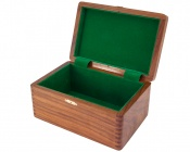 Polished Sheesham Chess Case with Hinged Lid 9 by 4 Inches