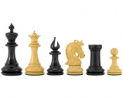 Corinthian Series Luxury Ebony Chess Pieces 4.25 Inches