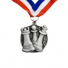Silver Coloured Chess Medal with Strap