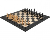Old English Elite Black Ebony Chess Set