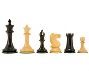 "Old English Elite Ebony Luxury Staunton Chess Pieces 3.5"" King"
