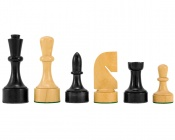 Contemporary Series Ebonized Chess Pieces 3.75 Inches