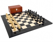 Fischer-Spassky Black Anegre Chess Set with Case