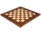 20 Inch Briar Wood and Elm Luxury Chess Board