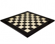 21.65 Inch Gloss Black Anegre and Maple Chess Board