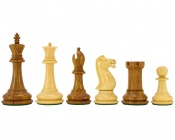 "Victoria Sheesham & Boxwood Chess Pieces 3.5"" King"