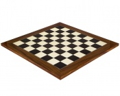 21.65 Inch Gloss Black Anegre and Palisander Chess Board