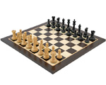 Victoria Ebonised Wenge Tournament Chess Set
